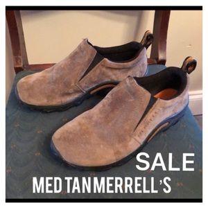 🔴SALE🔴Med Tan Merrell's- see description